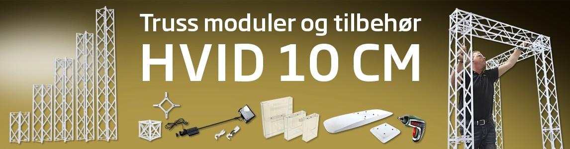 10x10 cm Truss modul hvid