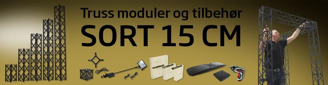 15x15 cm TRUSS modul, sort