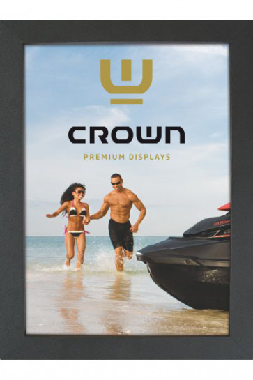 Crown Snap Frame 33 mm (G), 100x140cm, sort