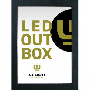 CROWN  LED OUT BOX, A1 double sided - black